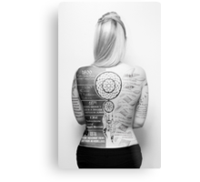 Tattoo Info Metal Print