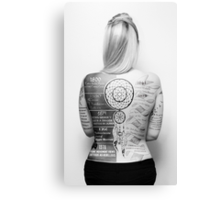 Tattoo Info Canvas Print