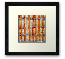 elements of burberry Framed Print