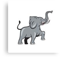 Elephant Marching Prancing Cartoon Canvas Print