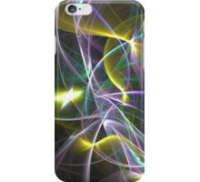 The Curves of Symbiotic Frequencies Traveling To Their Respective Harmonic Destinations, Only Compressed Into Lines | Fractal Starscape iPhone Case/Skin