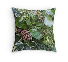 Evergreen Garland Detail Throw Pillow