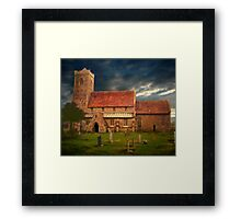Stormy Church  Framed Print
