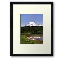 Mountainous Reflections Framed Print