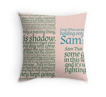 The Two Towers-- Sam's Speech Throw Pillow