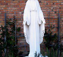Mother Mary in the Garden by Brenda Loveless