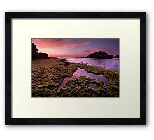 Pink Summers Sundown Framed Print
