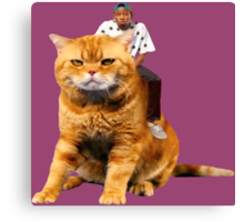 Tyler, the Creator riding cat Canvas Print