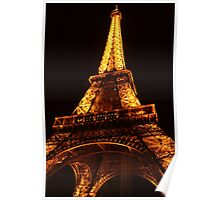 Glowing Gold Eiffel Poster