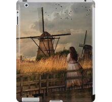 Autumn impression with two dutch windmills iPad Case/Skin