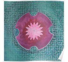 Serene Pink Lotus Mandala Poster