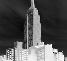 Gray Skies Empire State Building by Judith Oppenheimer