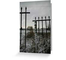 Broken Fence : Photography by Alys Griffiths Greeting Card