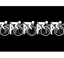 The Bicycle Race 2 White Photographic Print