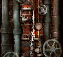 Steampunk - Plumbing - Pipes and Valves by Mike  Savad