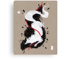 WHITE FOX RIBBONS  Canvas Print