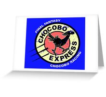 Chocobo Express Greeting Card