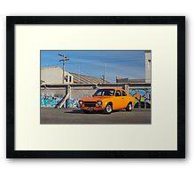 Orange Ford Escort Mk1 Framed Print