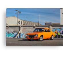 Orange Ford Escort Mk1 Canvas Print