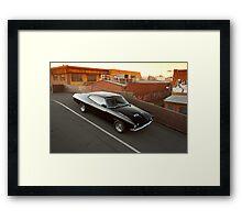 Black Ford XA Coupe Framed Print