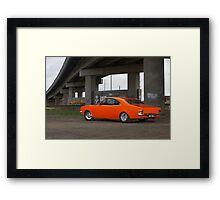 Orange Holden HG Monaro Framed Print