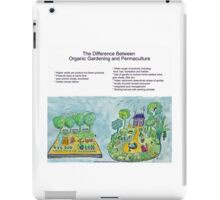 Difference Between Organic Gardening and Permaculture iPad Case/Skin