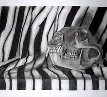 Animal Skull and Striped Cloth by Rayven Collins