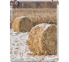 Snowy Cornstalk Bales iPad Case/Skin