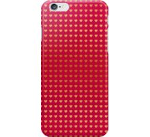 Gold hearts on pink iPhone Case/Skin