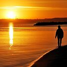 A sunrise walk in November at the Baltic Sea by jchanders