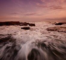Bar Beach Rock Platform 1 by Mark Snelson