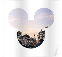 Main Street Sunset Mickey Poster