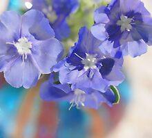 Pretty in Blue I by Barbara Derusha