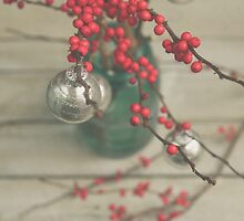 Winter Holly Berries by Olivia Joy StClaire
