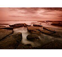 Bar Beach Rock Platform 6 Photographic Print