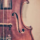 Vintage Violin Portrait by Kadwell