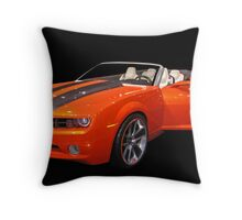 Orange Camaro II Throw Pillow