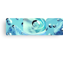 Sapphire Snow Canvas Print