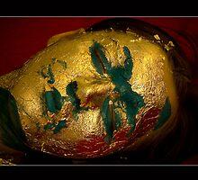 Geisha in Gold Foil by Dan Cretu