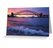 Morning Wake - Sydney Harbour, Sydney Australia Greeting Card