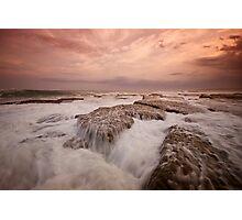 Bar Beach Rock Platform 11 Photographic Print