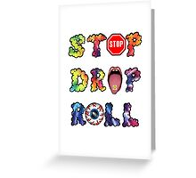 Stop, drop and roll Rainbow Greeting Card