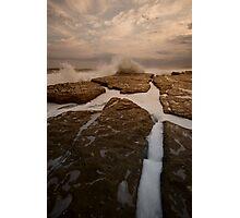 Bar Beach Rock Platform 12 Photographic Print