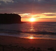 Light Over The Horizon- Sydney Beaches Collaroy Beach Sydney Australia by Philip Johnson