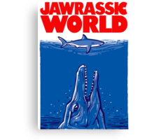 Jawrassic World (variation) Canvas Print