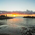 Portpatrick A Winter Sunset by derekbeattie