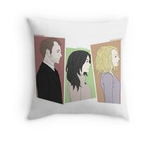 The Detectives and the Criminal Throw Pillow