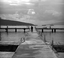 man walking on the sea by habish