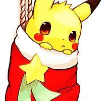 pikachu stocking by anythinggohs