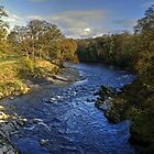 The River Lune At Kirkby Lonsdale by Jamie  Green